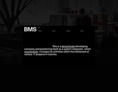 Minimalistic web-site for BMS Techno