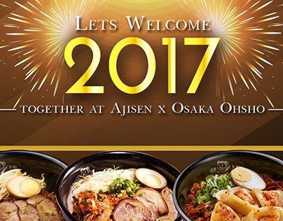 Ajisen X Osaka Ohsho - New Year Eve Menu