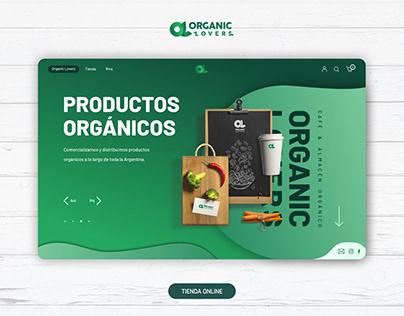 Organic Lovers | e-Commerce | Web Design | UX/UI