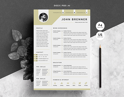 Minimal Resume Template 2 Pages