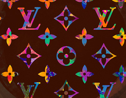 Louis Vuitton pattern color
