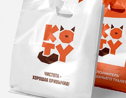 Нейминг и логотип : кошачий наполнитель