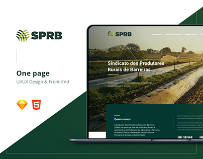 One Page - SPRB | UX/UI Design & Front-end