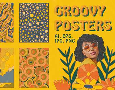 GROOVY 70S POSTERS - VECTOR PATTERNS
