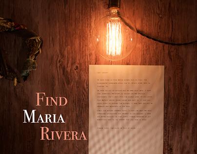 Find Maria Rivera: A Pervasive Game