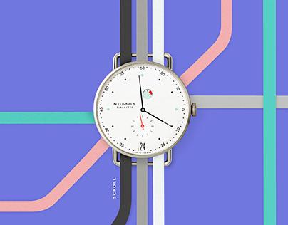 NOMOS, branding UX UI Site Design