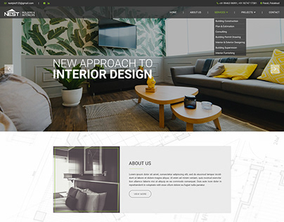 WEBSITE LAYOUT DESIGN - NEST-BUILDERS&INTERIORS