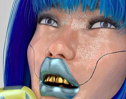 CYBER DREAMS 3D ARTWORK