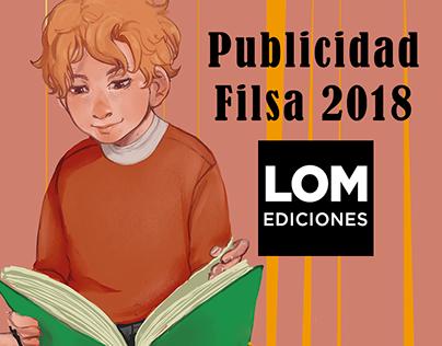 Publicidad Lom ediciones - FILSA 2018.