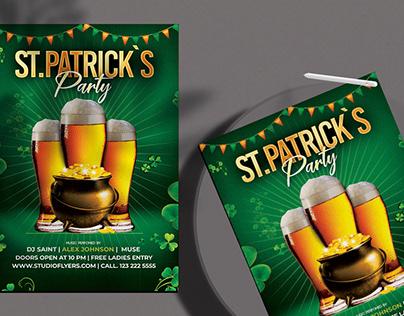 Saint Patrick`s Free PSD Flyer Template