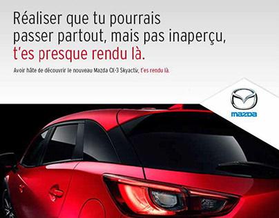 Affiches - Mazda - Campagne Salon de l'auto (métro)