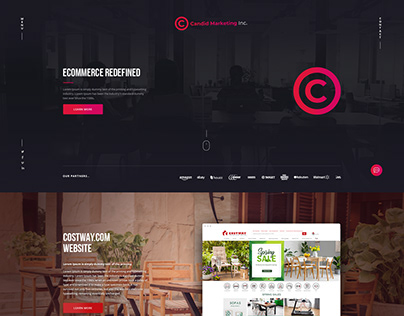 Digital Agency website design proposals