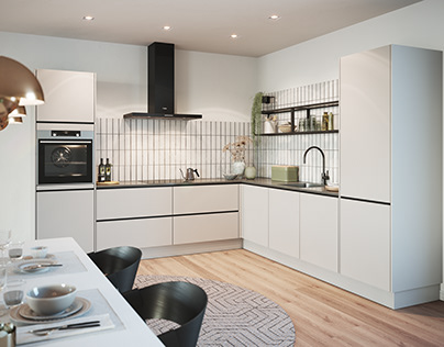 CGI Kitchen: Light Grey