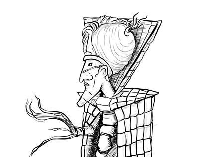 "Character Designs for ""Les Peuples des Ondes"" books"