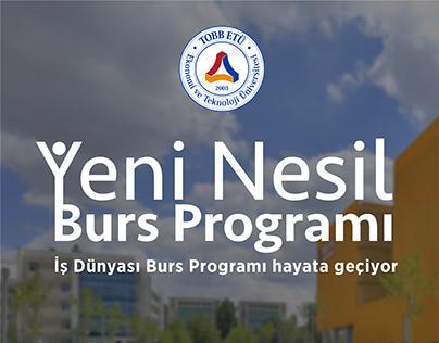 İş dünyası burs programı çalışmaları TOBB ETÜ
