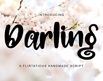 Darling - A flirtatious handmade font