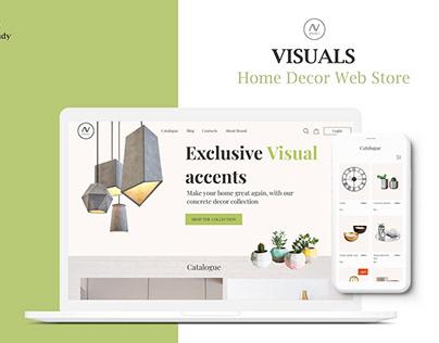 UI/UX Case study of Home decor web store