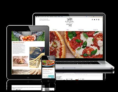 Basil & Polenta Website design and Branding