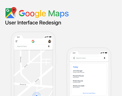 Google Maps User Interface Redesign