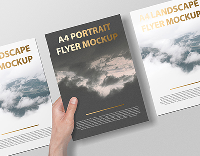 A4 Portait Flyer / Letterhead Mockup - Foil Stamping Ed