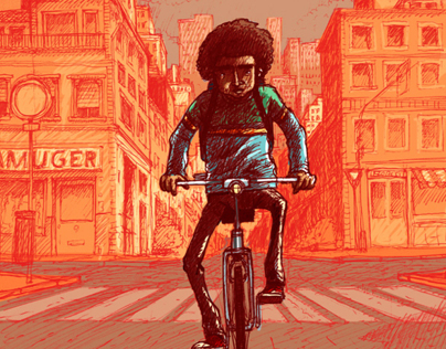 Born to be bike - Drawing and Colouring Sketches