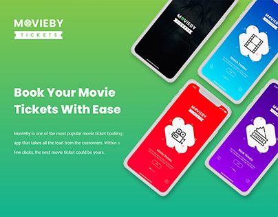 Movie Ticket Mobile App UI UX