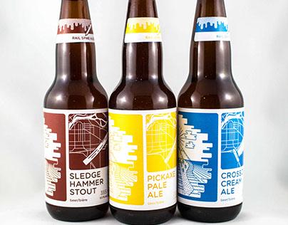 Rail Spike Ales Beer Branding