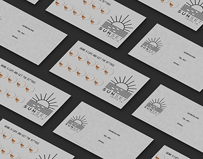 Sunset Coffee Co. Business Card
