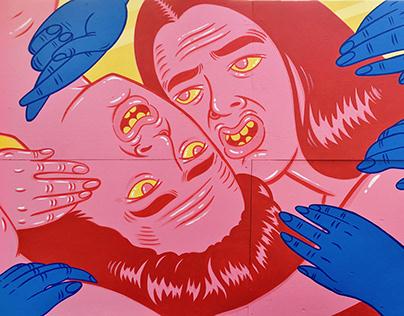 Mural for Osheaga Music & Arts Festival Montreal 2018
