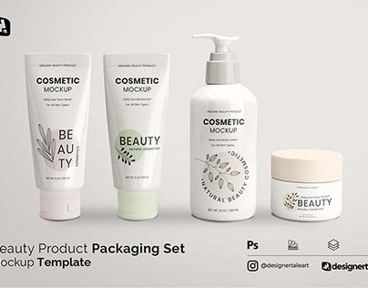 Beauty Product Packaging Set Mockup