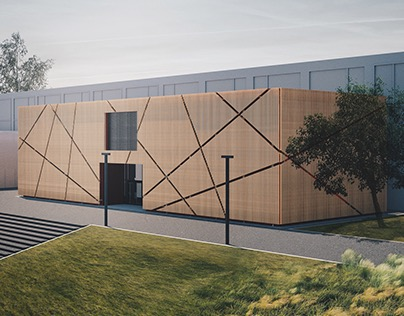 Reconstruction of the Sport Complex building's facade