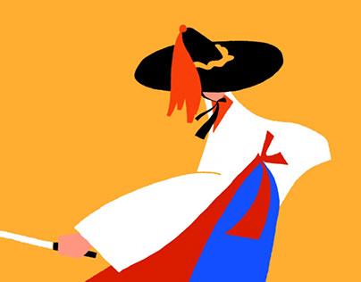 Traditional dance illustration