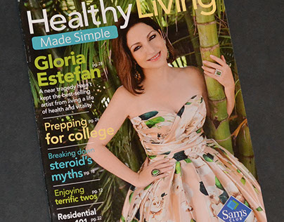Healthy Living Made Simple magazine layout and design