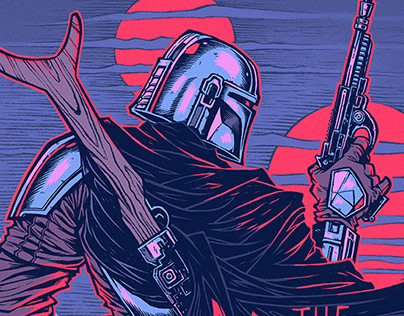 THE MANDALORIAN | Screen Print Poster