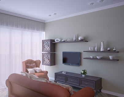 3d rendering of the living room