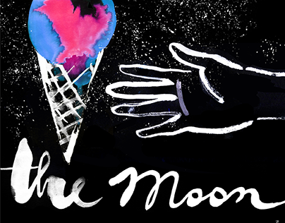 THE MOON / illustrations for video mapping