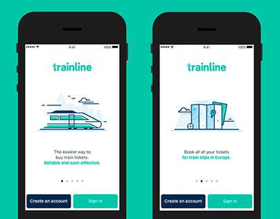 Trainline EU - App Illustrations