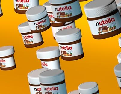 NUTELLA LOVE / 3D design / modeling