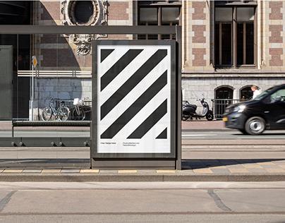 City Busstop Poster Mockup