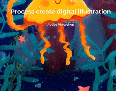 Process create digital illustration