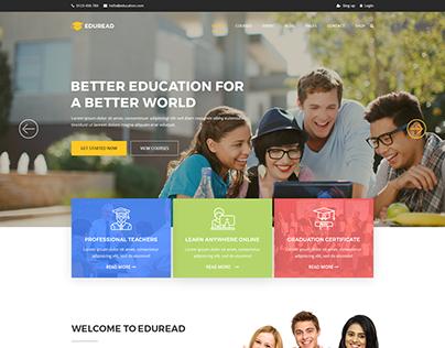 EduRead - Ultimate Education Template Design