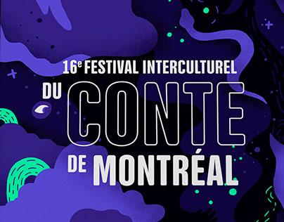 Affiche Festival interculturel du conte de Montréal