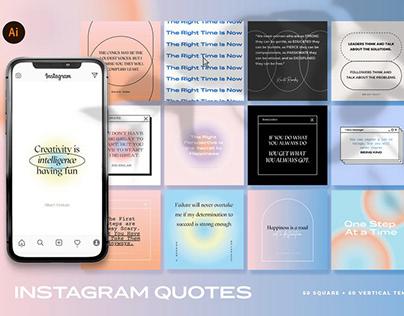 Gradient Instagram Quote Templates