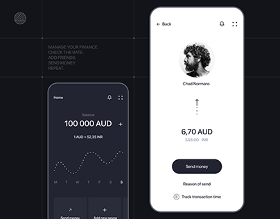 Bank mobile app design