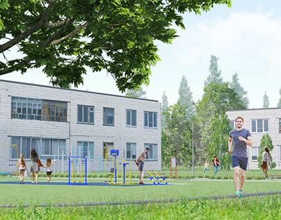 "CGI for ""Town enviroment renovation, city of Bor"""