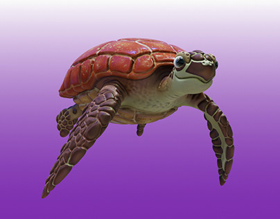 Sea Turtle Renders and Pencil Style