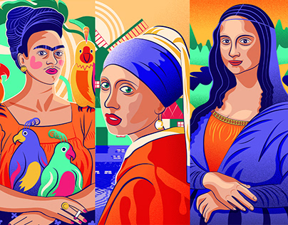 Iconic muses in art history
