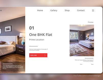 Real Estate House Search UI Design