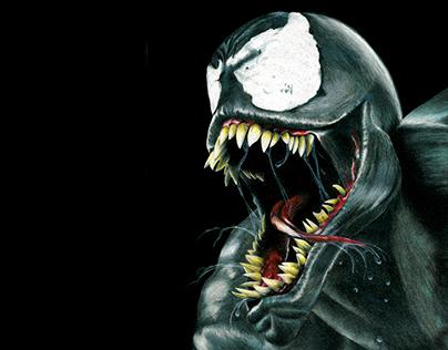 Venom - Prisma Color Pencil Illustration