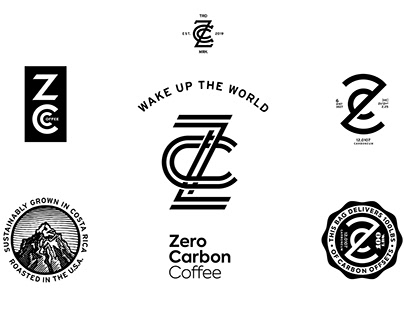 Zero Carbon Coffee branding and packaging
